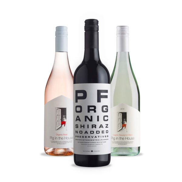 Bird and Barrel, 3-pack Organic Wine selection