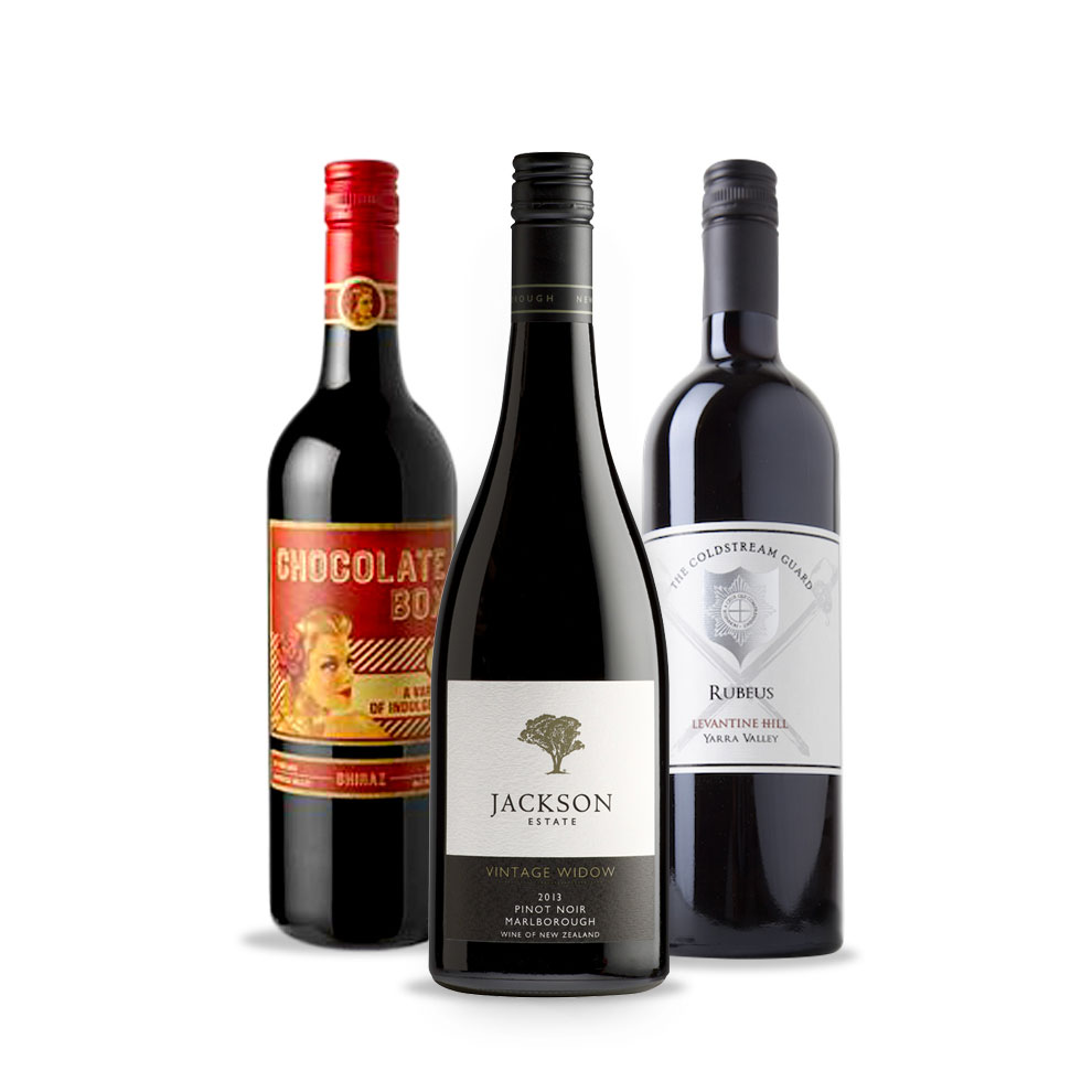 Bird and Barrel, 3-pack Red Wine Selection