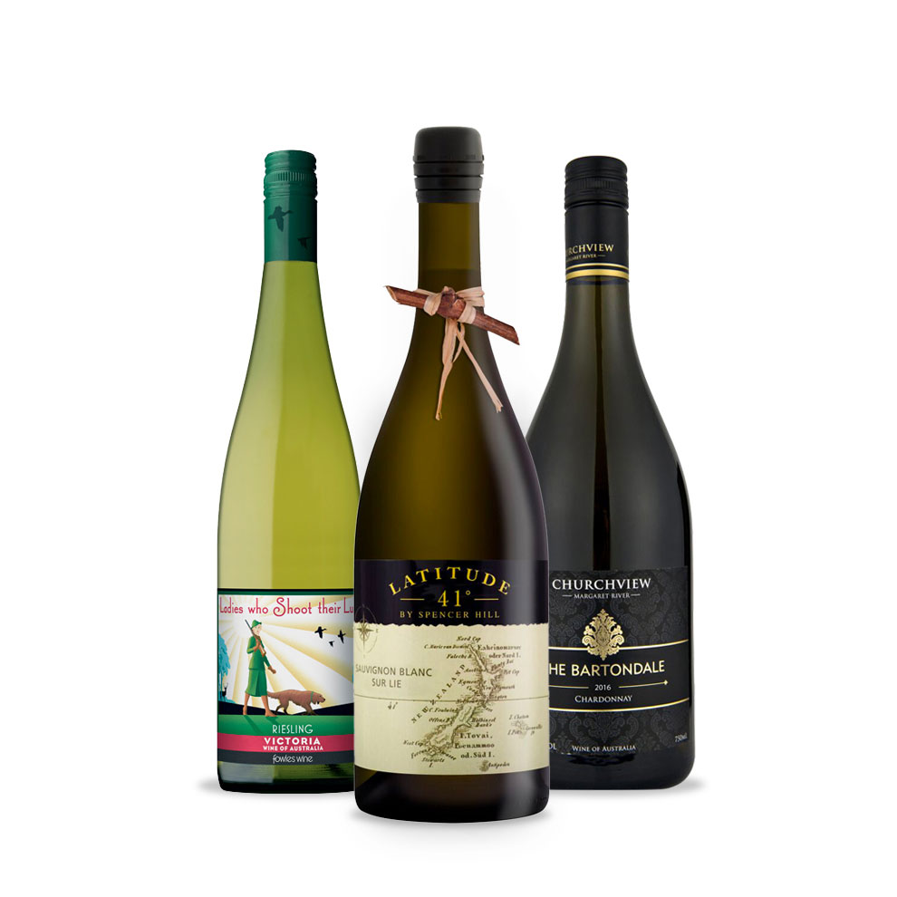 Bird and Barrel, 3-pack White Wine Selection