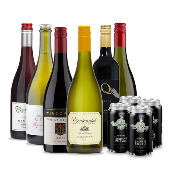 Bird and Barrel, 6 pack wine with free beer