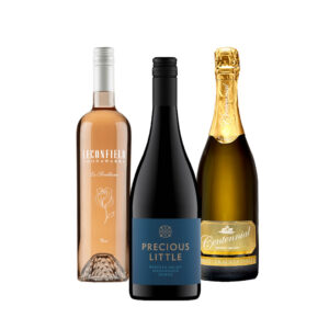 Trio of wine Leconfield Rose, Precious Little Shiraz and Centennial Vineyards Methode Tradionelle