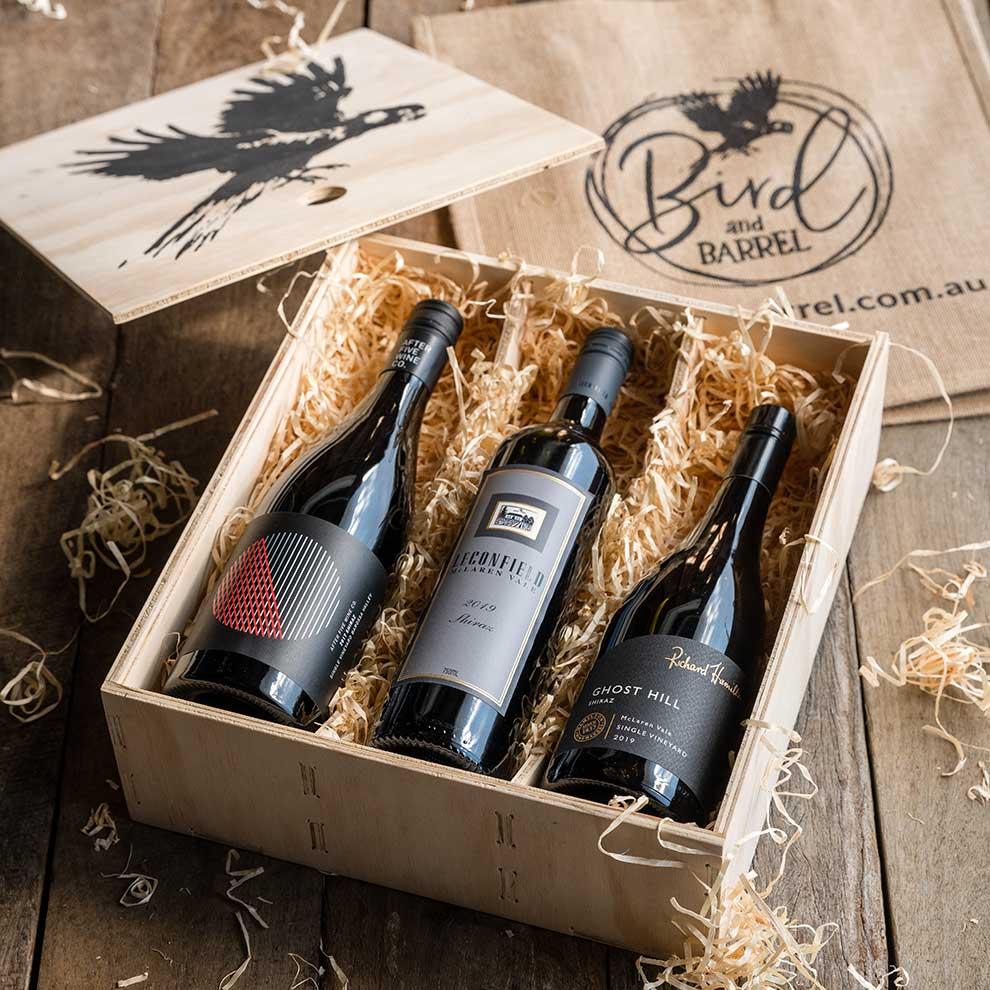 Bird and Barrel Shiraz Wine Gift Pack